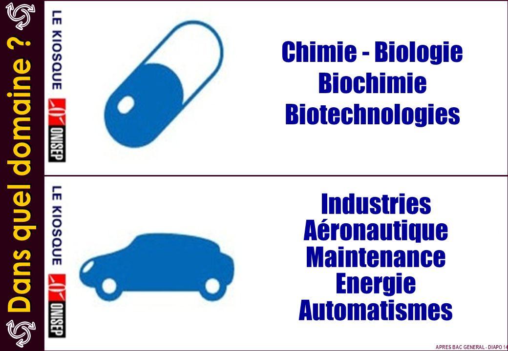 Chimie - Biologie Biochimie Biotechnologies Industries Aéronautique