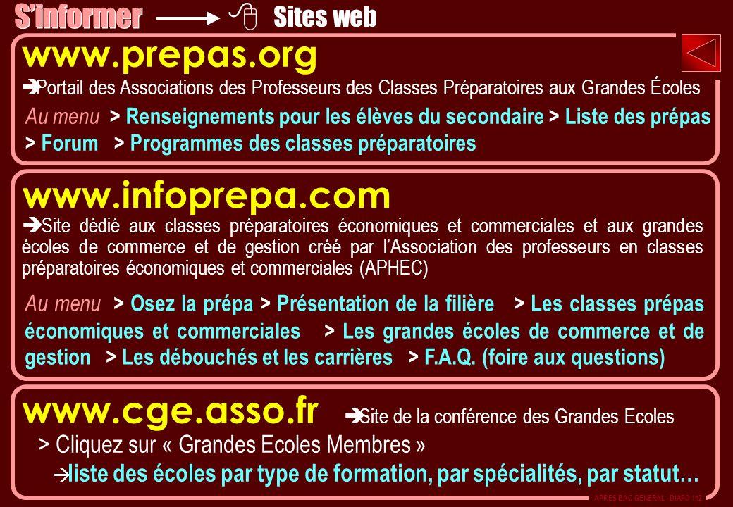 www.cge.asso.fr è Site de la conférence des Grandes Ecoles