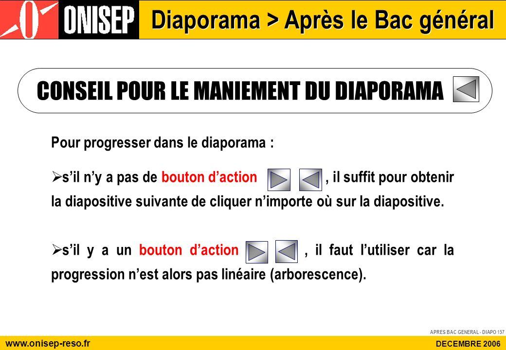 Diaporama > Après le Bac général www.onisep-reso.fr DECEMBRE 2006