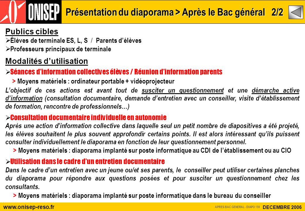 Présentation du diaporama > Après le Bac général 2/2