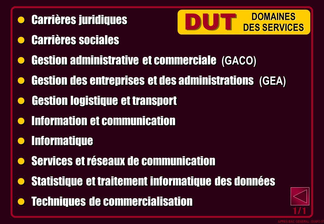 DUT Carrières juridiques Carrières sociales