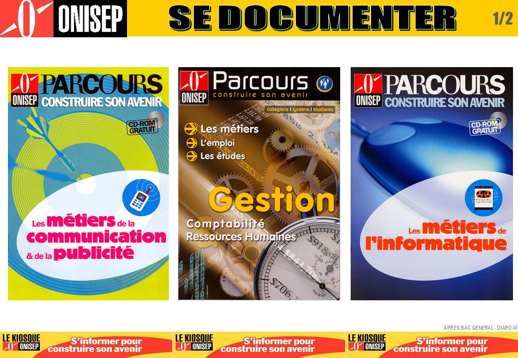 SE DOCUMENTER 1/2 APRES BAC GENERAL - DIAPO 48