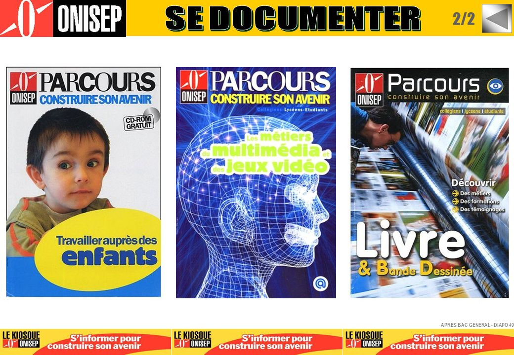 SE DOCUMENTER 2/2 APRES BAC GENERAL - DIAPO 49