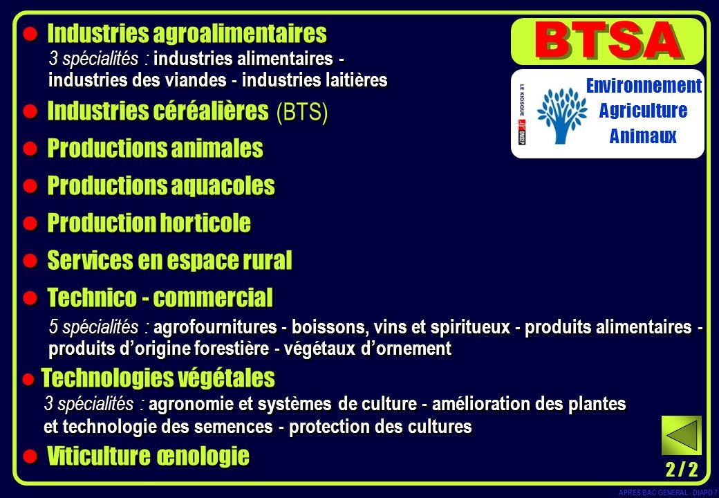 BTSA Industries agroalimentaires Industries céréalières (BTS)