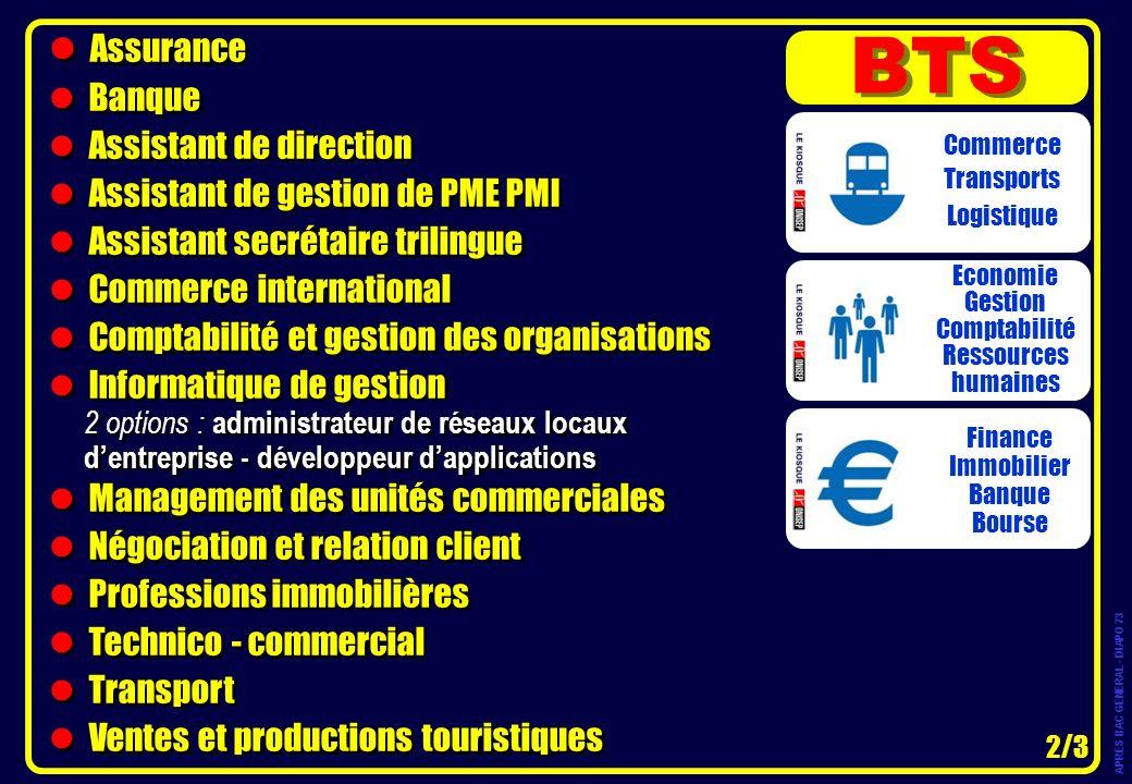 BTS Assurance Banque Assistant de direction