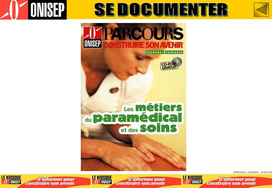 SE DOCUMENTER APRES BAC GENERAL - DIAPO 99