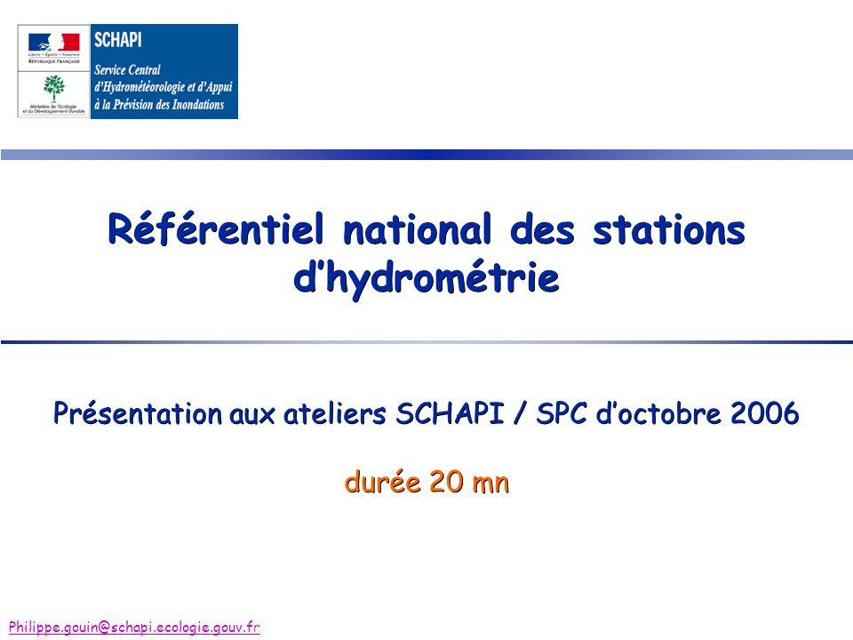 Référentiel national des stations d'hydrométrie
