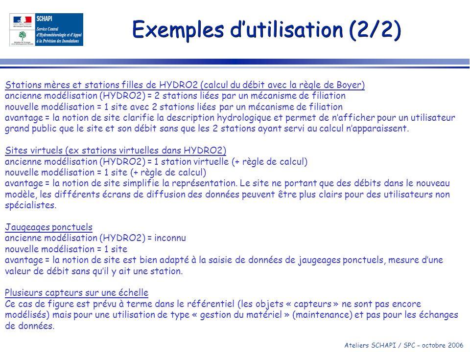 Exemples d'utilisation (2/2)