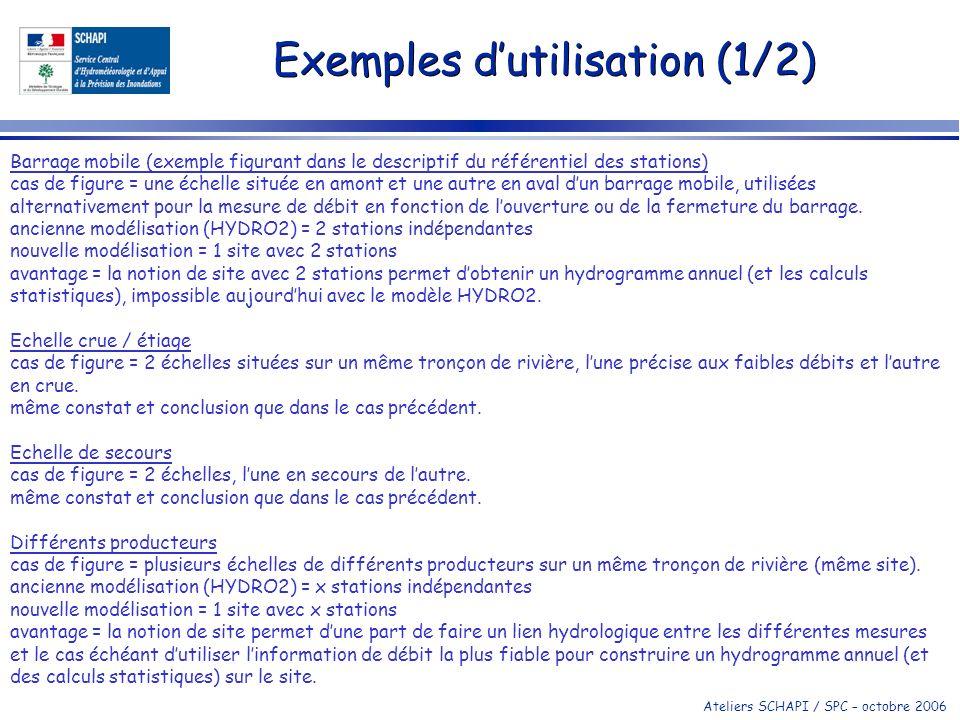 Exemples d'utilisation (1/2)