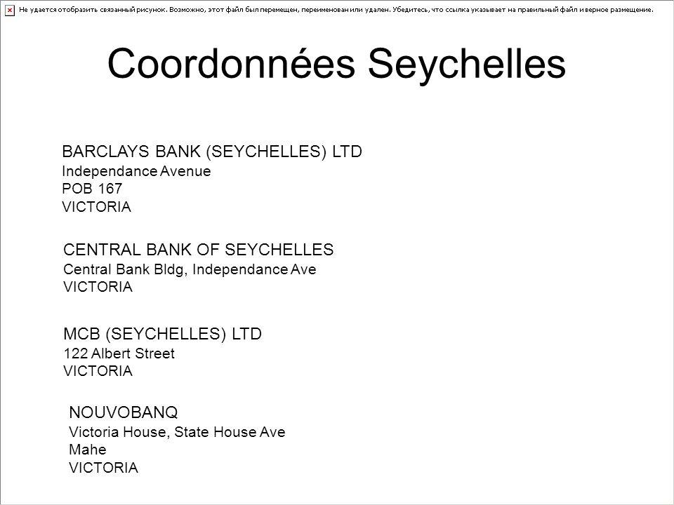 Coordonnées Seychelles