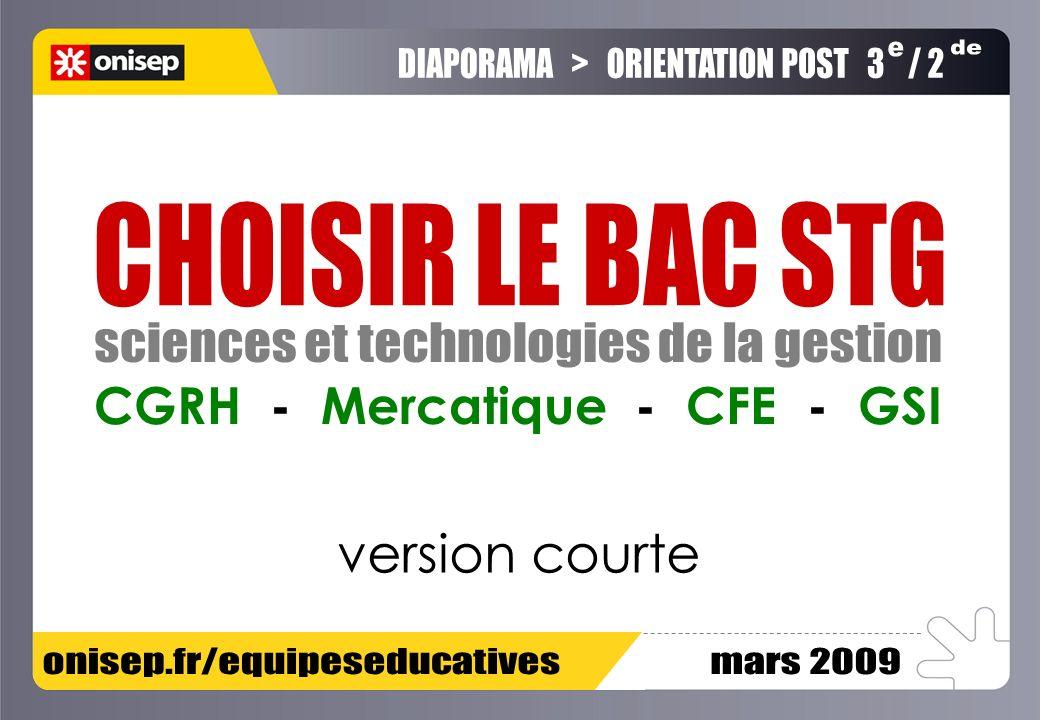 version courte CGRH - Mercatique - CFE - GSI e de