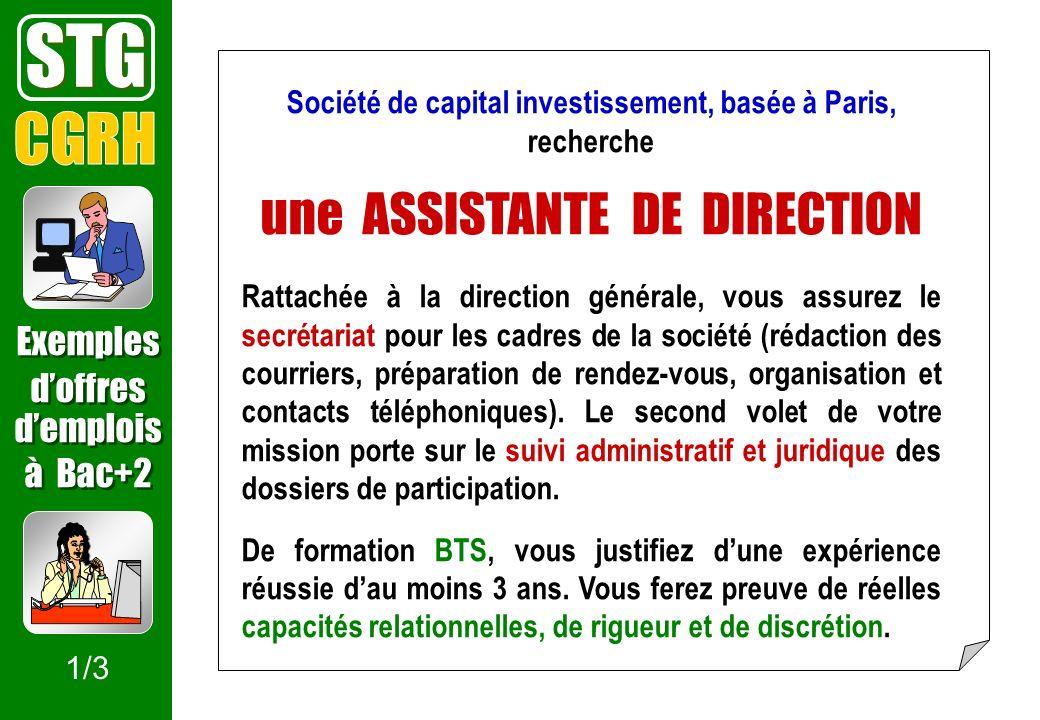 Société de capital investissement, basée à Paris, recherche
