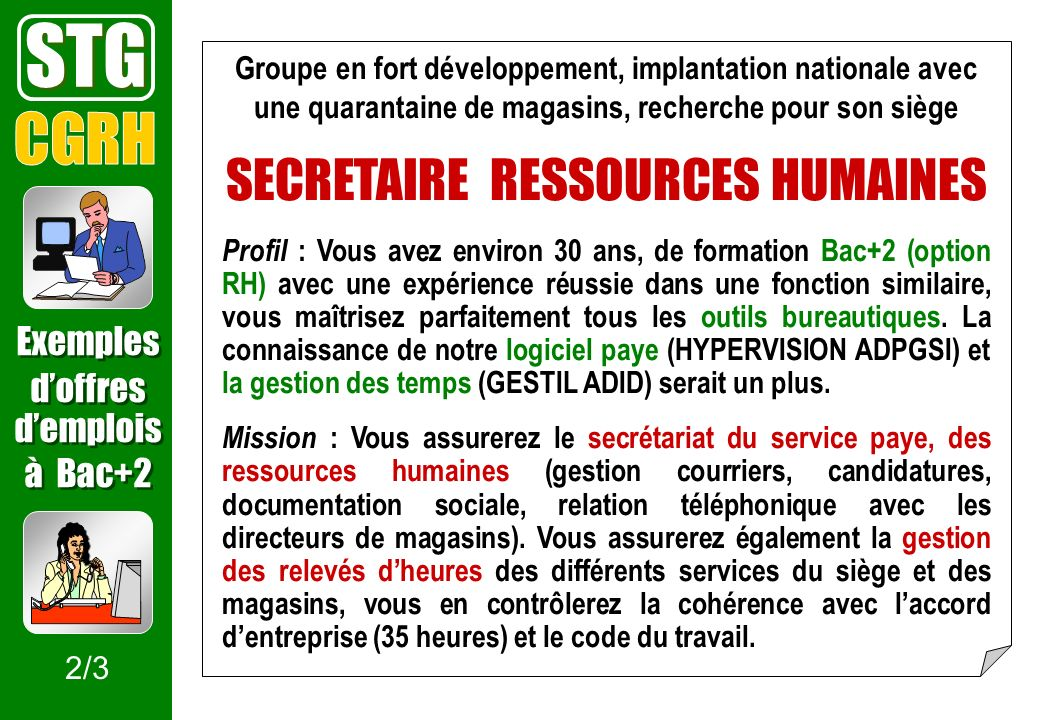 SECRETAIRE RESSOURCES HUMAINES