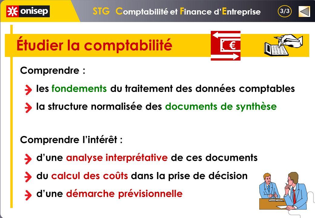 STG Comptabilité et Finance d'Entreprise Étudier la comptabilité