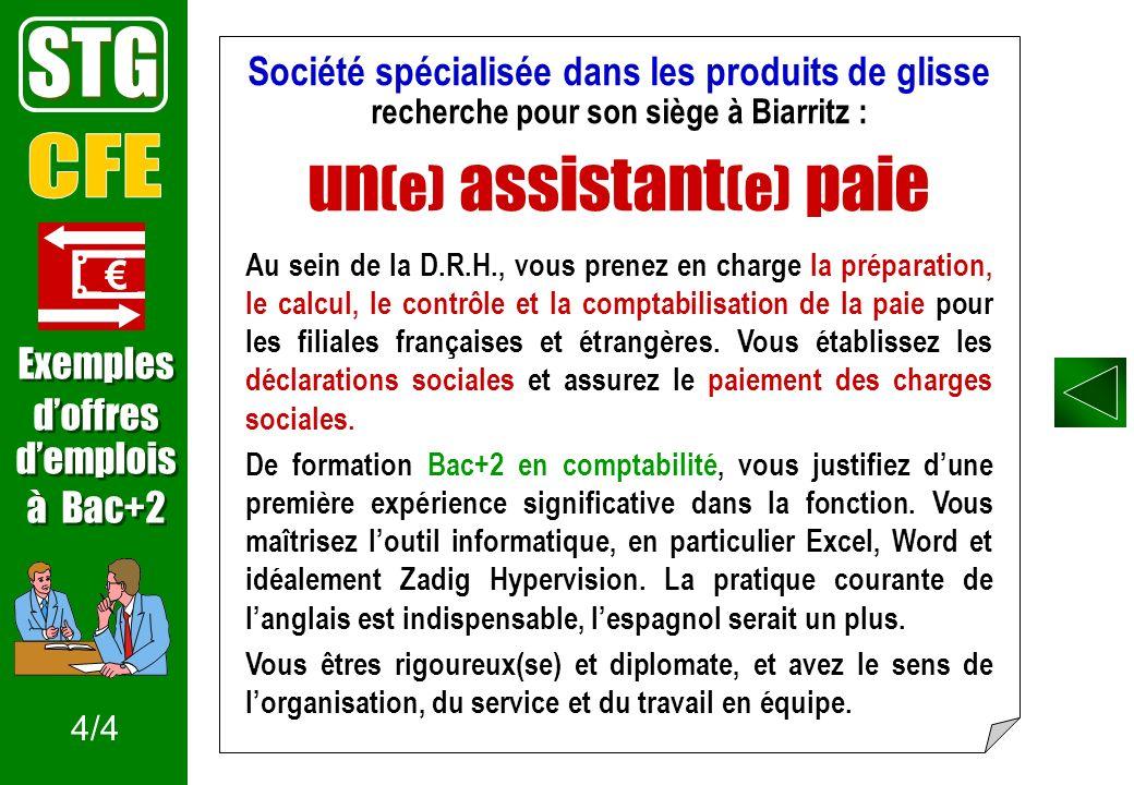 STG un(e) assistant(e) paie CFE