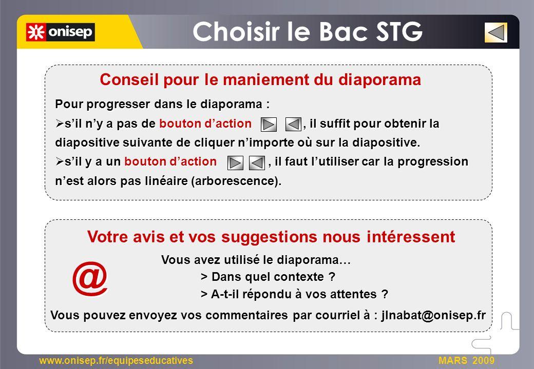 @ Choisir le Bac STG Votre avis et vos suggestions nous intéressent