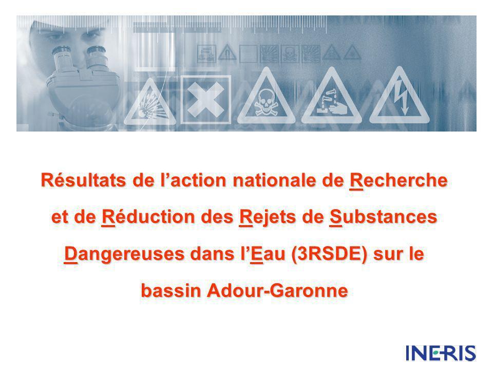 Résultats de l'action nationale de Recherche et de Réduction des Rejets de Substances Dangereuses dans l'Eau (3RSDE) sur le bassin Adour-Garonne