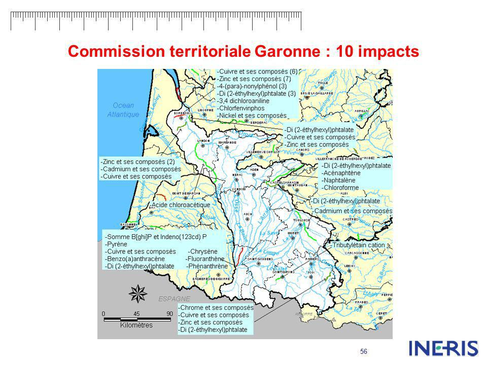 Commission territoriale Garonne : 10 impacts