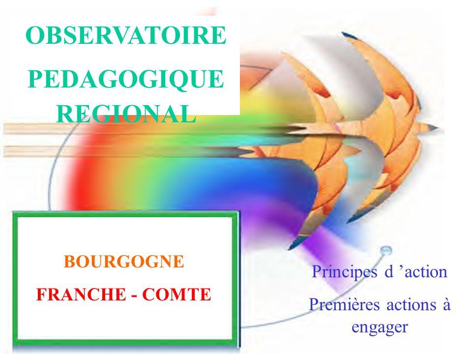 OBSERVATOIRE PEDAGOGIQUE REGIONAL