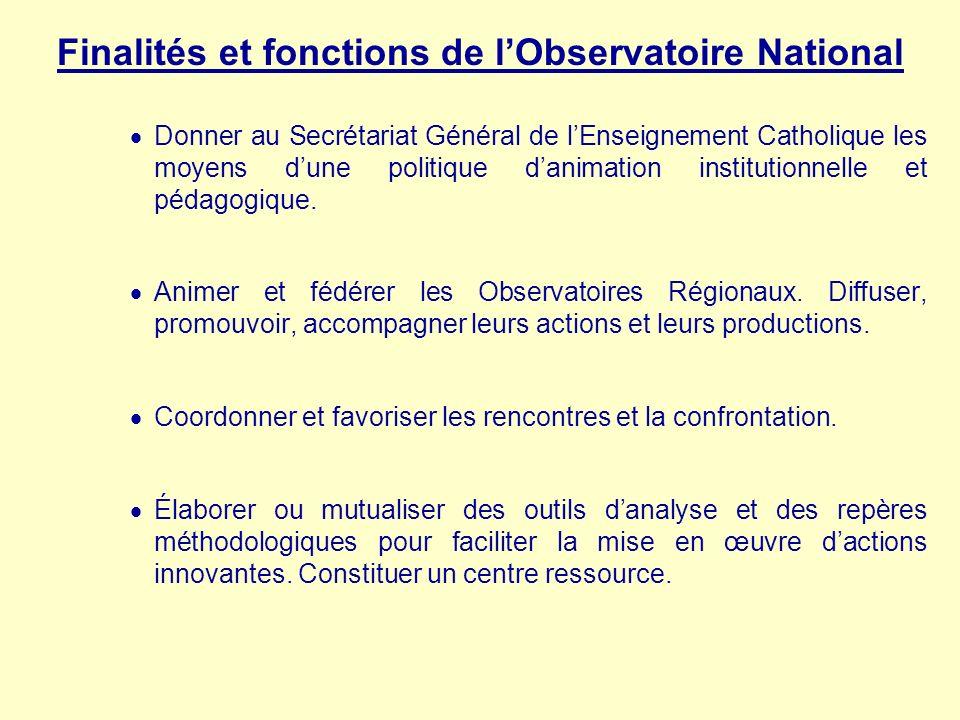 Finalités et fonctions de l'Observatoire National