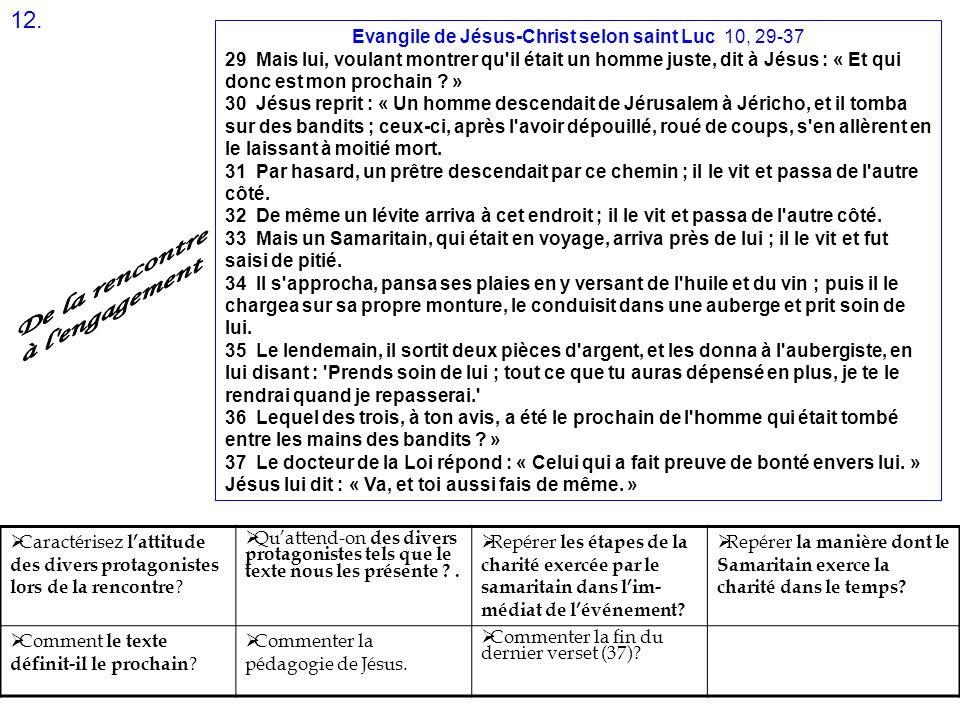 Evangile de Jésus-Christ selon saint Luc 10, 29-37
