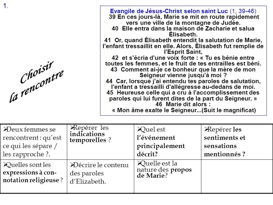 Evangile de Jésus-Christ selon saint Luc (1, 39-46)
