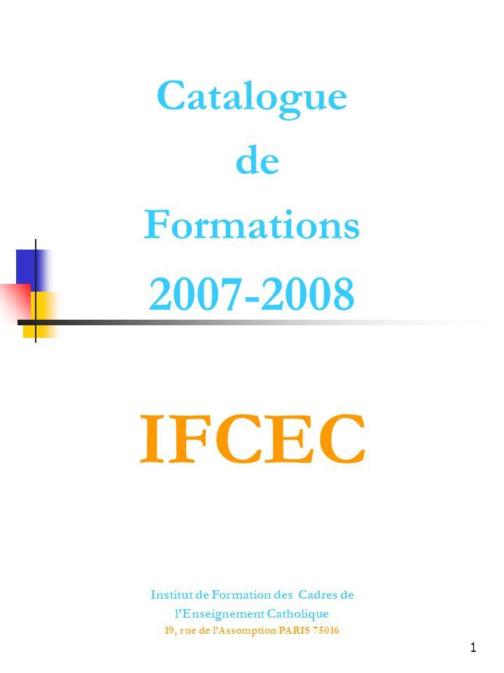 Catalogue de Formations 2007-2008