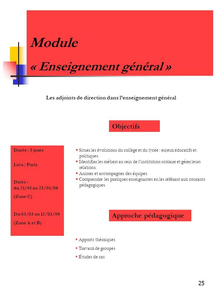 Module « Enseignement général »
