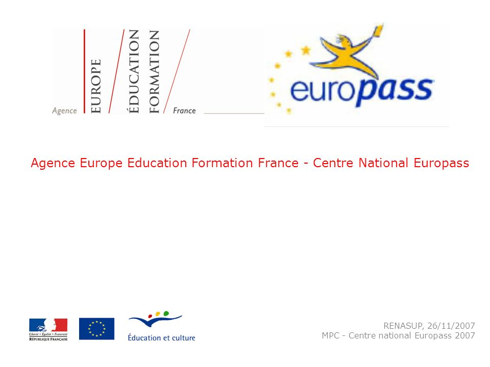 Agence Europe Education Formation France - Centre National Europass