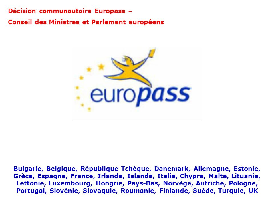 Décision communautaire Europass –
