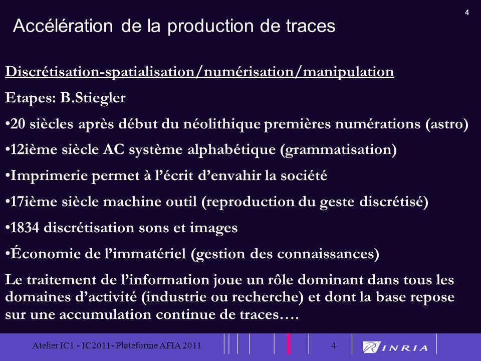 Accélération de la production de traces
