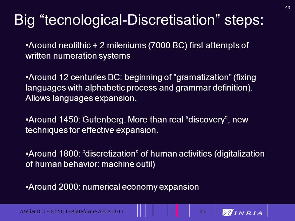Big tecnological-Discretisation steps: