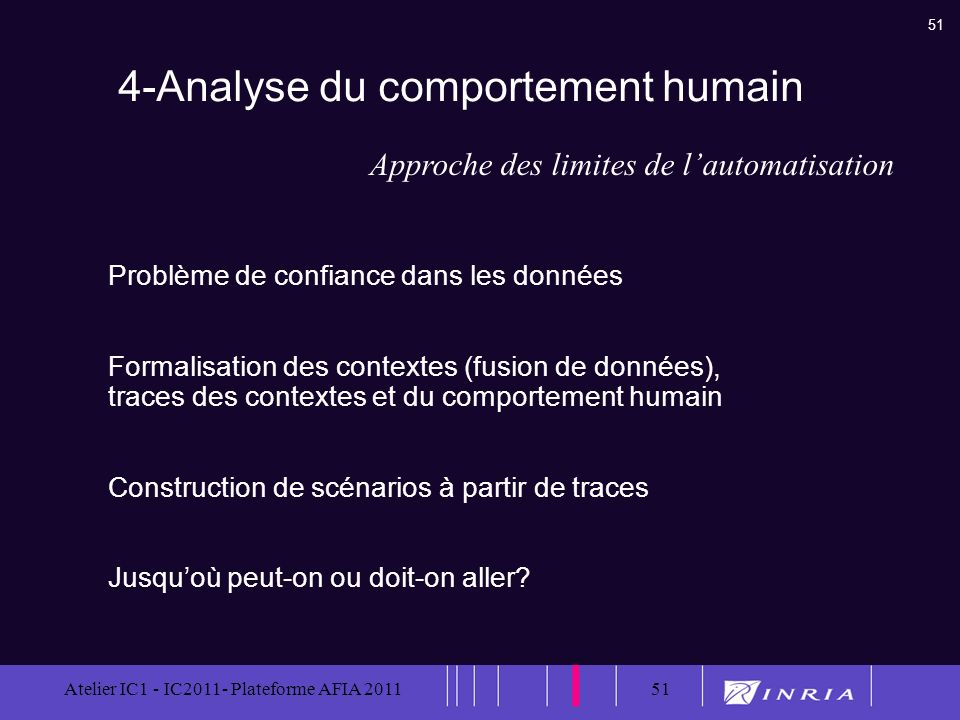 4-Analyse du comportement humain