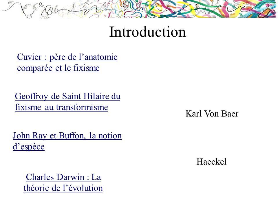Introduction Cuvier : père de l'anatomie comparée et le fixisme