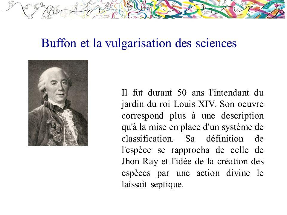 Buffon et la vulgarisation des sciences