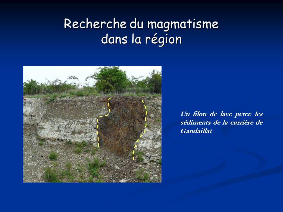 Recherche du magmatisme
