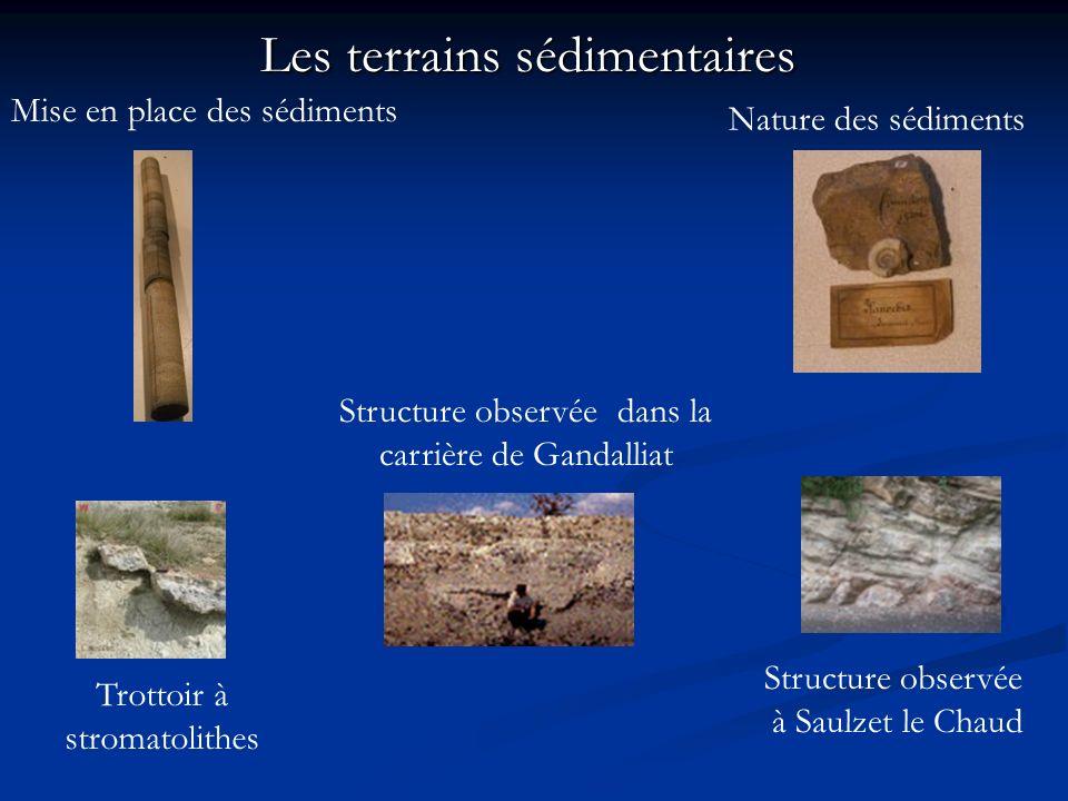 Les terrains sédimentaires