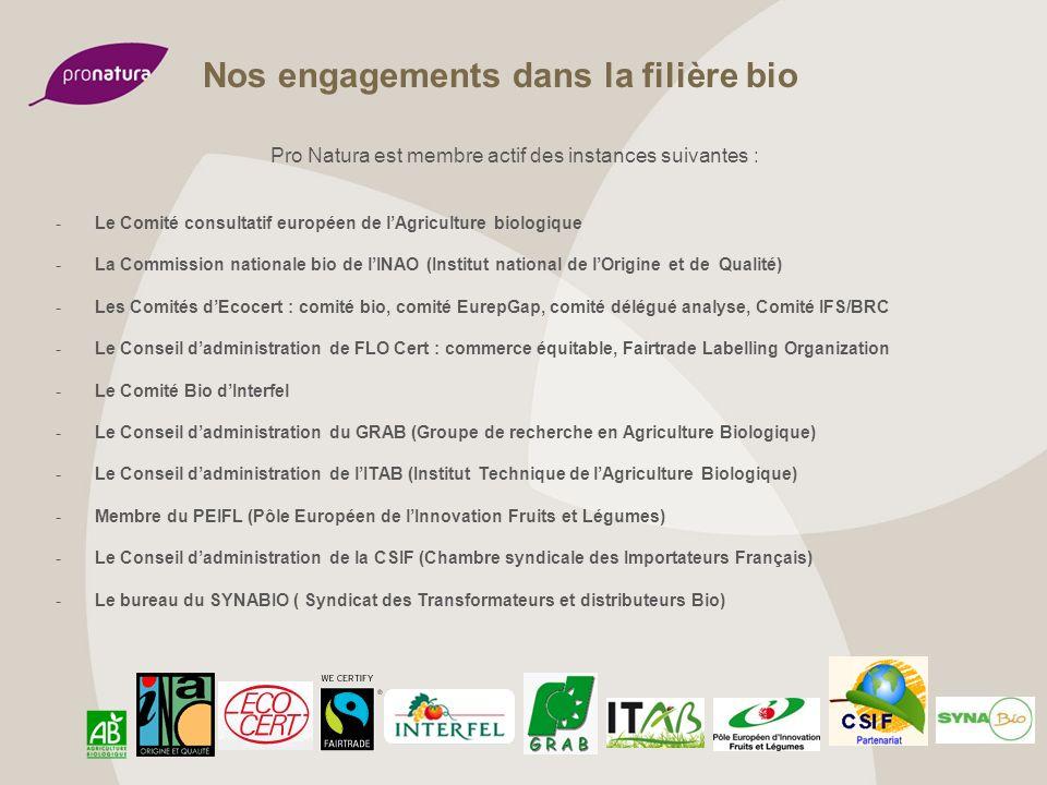 Nos engagements dans la filière bio