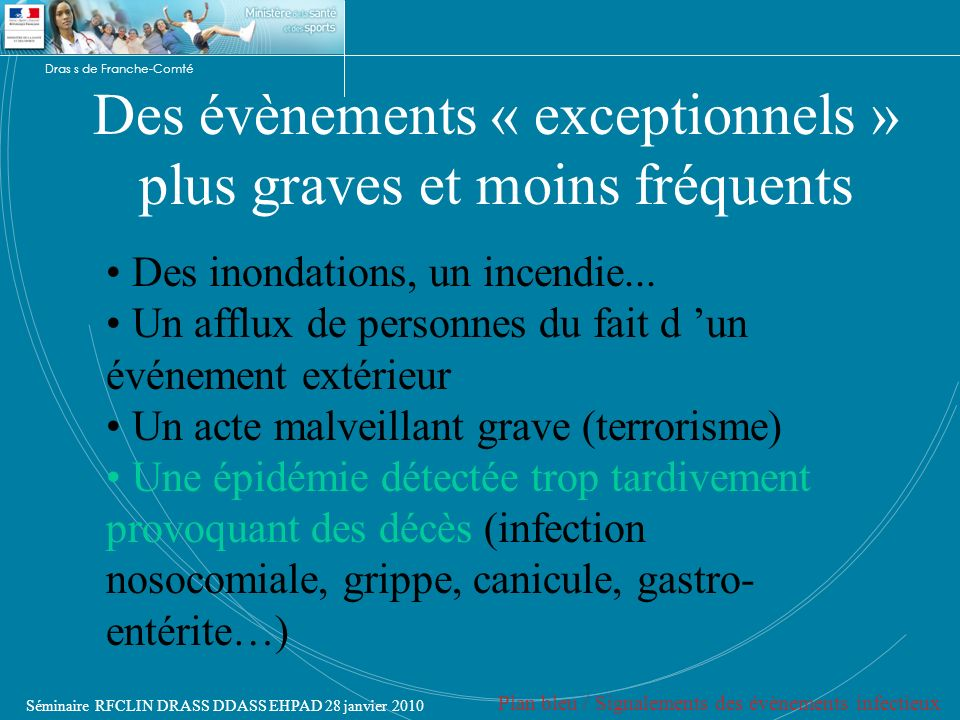 Des évènements « exceptionnels » plus graves et moins fréquents