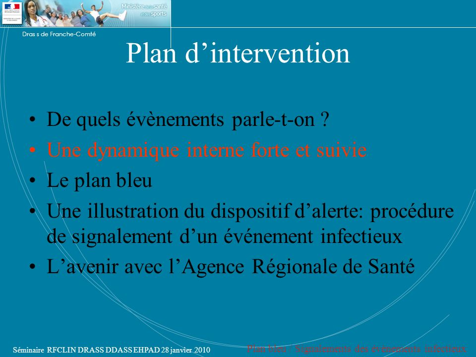 Plan d'intervention De quels évènements parle-t-on