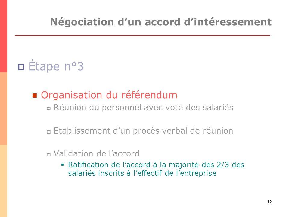 Négociation d'un accord d'intéressement
