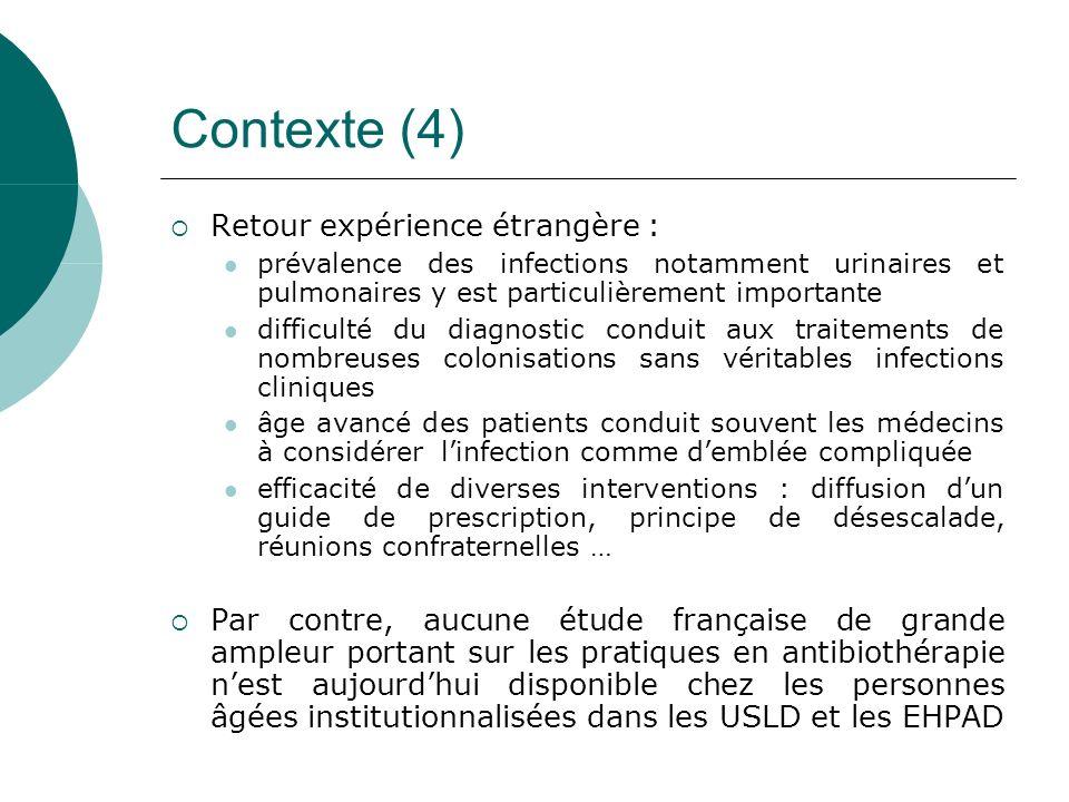 Contexte (4) Retour expérience étrangère :
