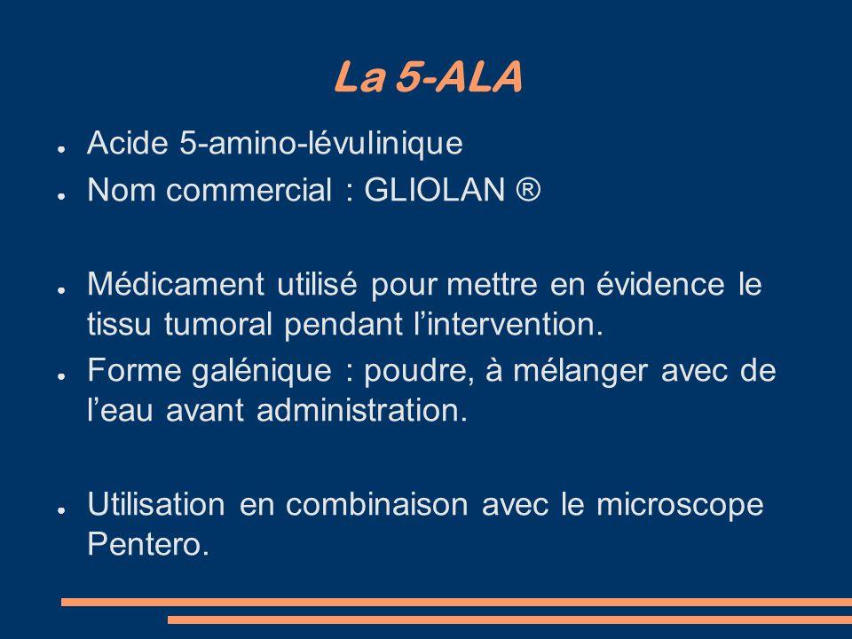 La 5-ALA Acide 5-amino-lévulinique Nom commercial : GLIOLAN ®