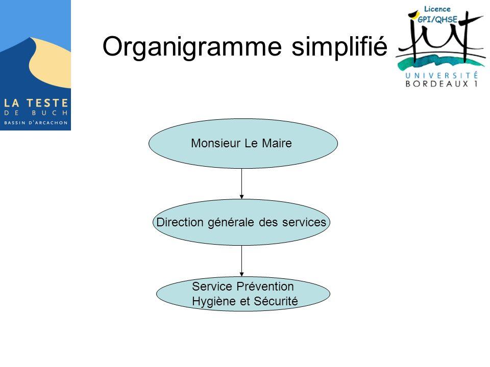 Organigramme simplifié