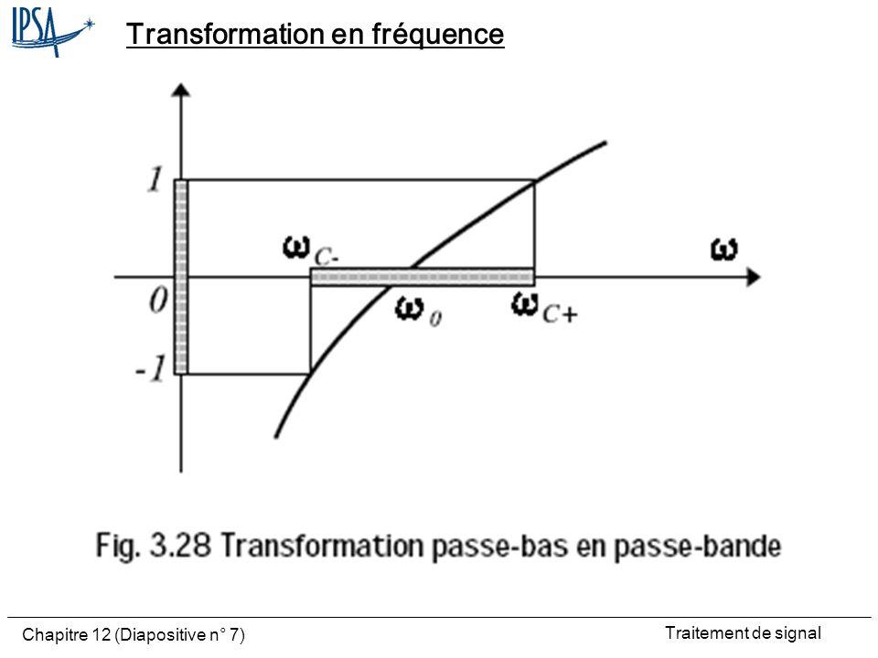 Transformation en fréquence