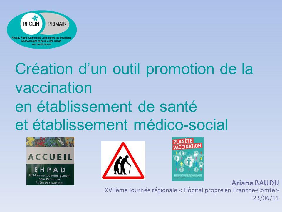 Création d'un outil promotion de la vaccination en établissement de santé et établissement médico-social