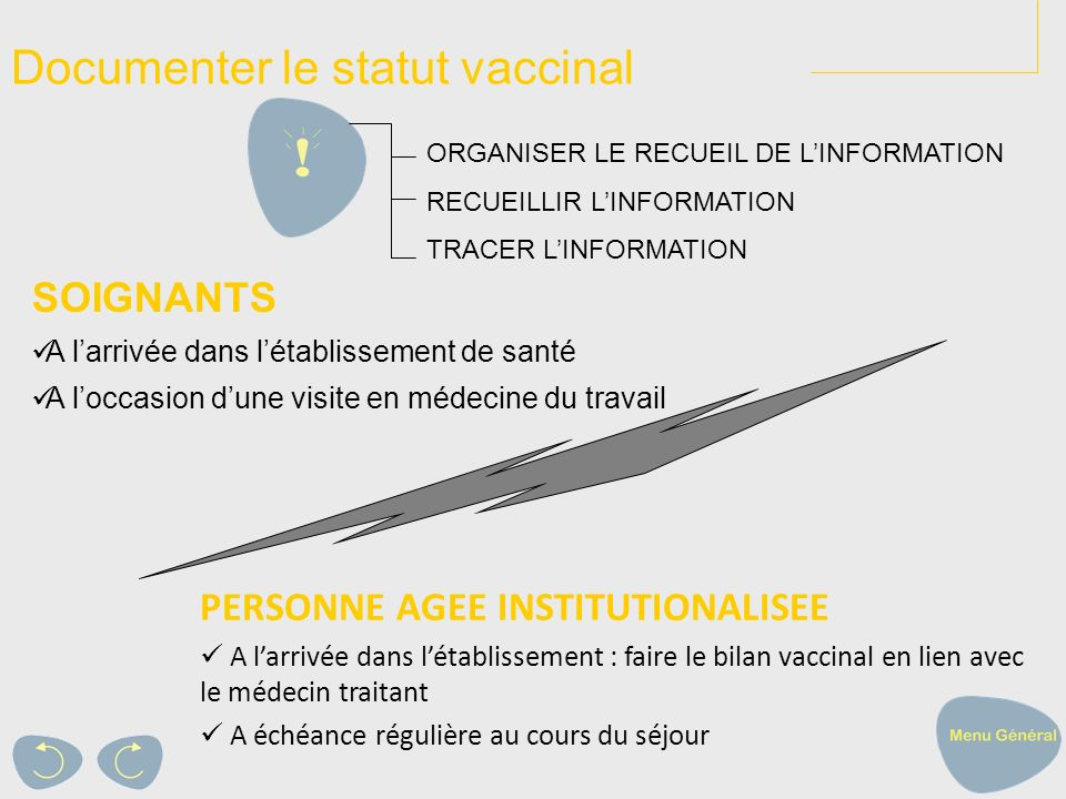 Documenter le statut vaccinal
