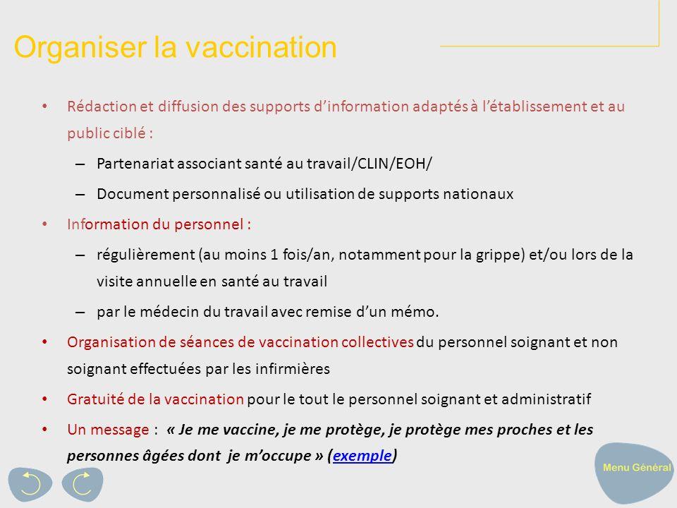 Organiser la vaccination