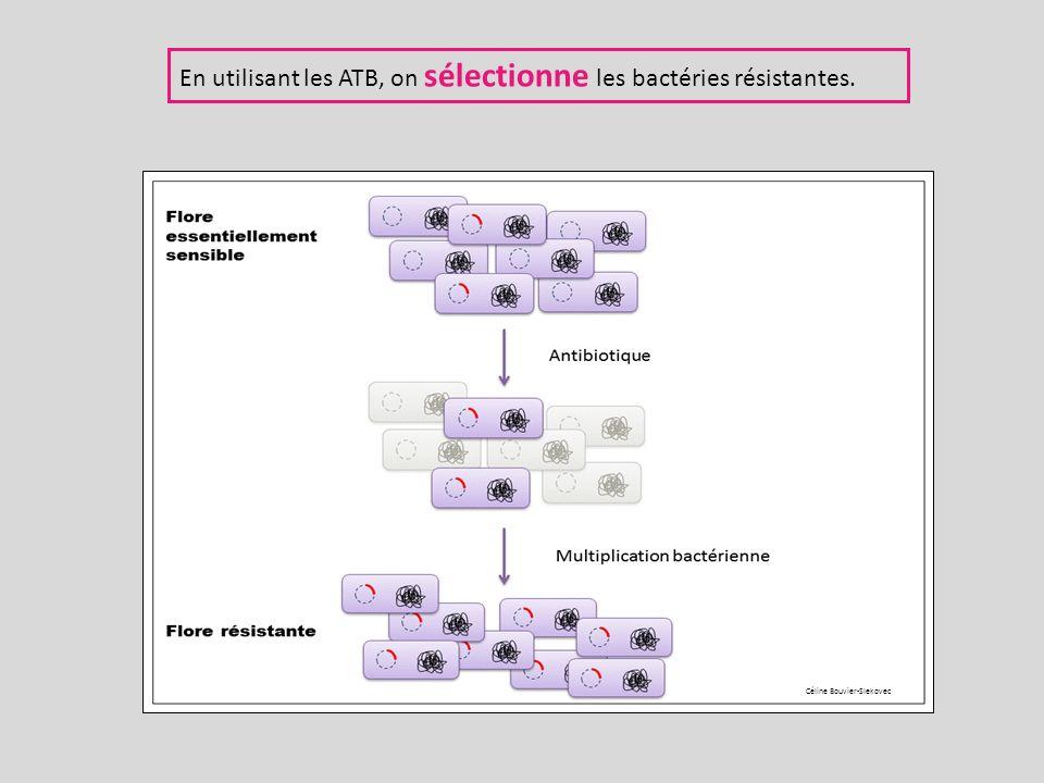 En utilisant les ATB, on sélectionne les bactéries résistantes.