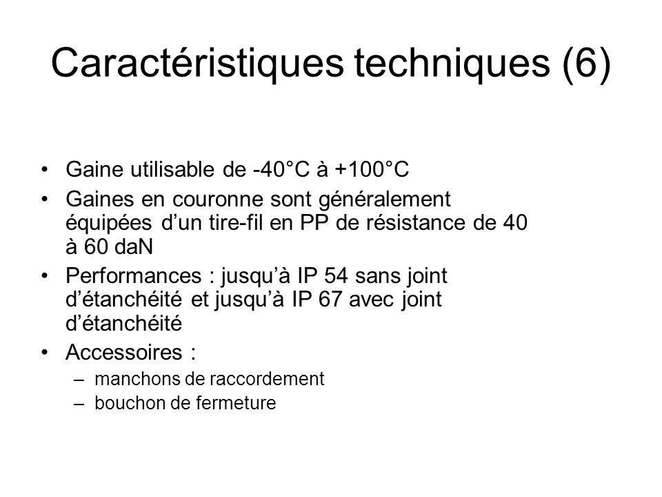 Caractéristiques techniques (6)